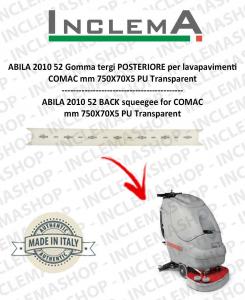 ABILA 2010 52 Gomma tergi POSTERIORE per lavapavimenti COMAC Plastic sq. from 111011126
