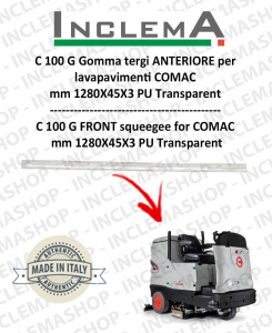 C 100 G Gomma tergi ANTERIORE per lavapavimenti COMAC