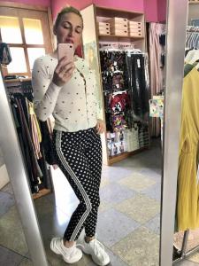 Pantalone stampato con bande Oroblu