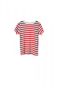 T-Shirt a righe rosse e bianche