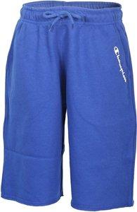Pantaloncino di tuta azzurro con stampa logo bianco