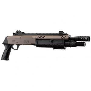 fucile a pompa ultra compact FABARMS (BO) Colore fde. 3bb per sparo. (funzionamento a molla)  In dotazione presenti: 2 cartucce cal.12 Include dispositivi di puntamento in fibra ottica rimovibili.