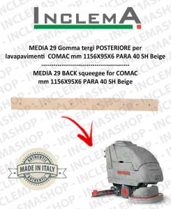 MEDIA 29 Gomma tergi POSTERIORE per lavapavimenti COMAC
