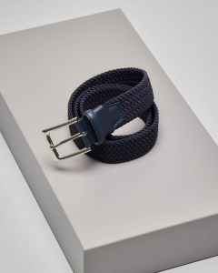 Cintura blu intrecciata