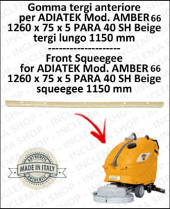 AMBER 66 Bavette avant pour autolaveuses ADIATEK (tergi da 1150 mm)