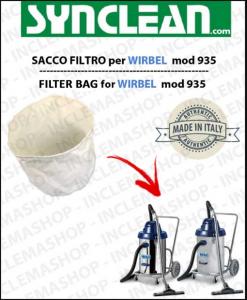 935 SACCO FILTRO para aspiradora WIRBEL