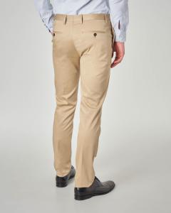 Pantalone beige in cotone stretch