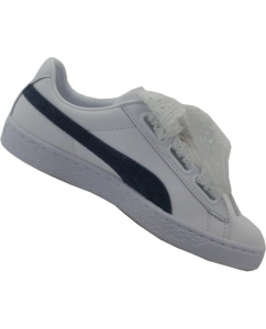 Puma Basket Heart Denim White-Blue Indigo-Silver 367835-01
