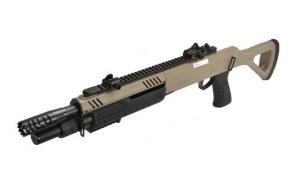 fucile a pompashort barrel FABARMS (BO) COLORAZIONE TAN. 3bb per sparo. (funzionamento a molla)