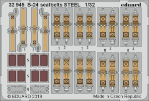 B-24 seatbelts STEEL