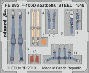 F-100D seatbelts STEEL 1/48