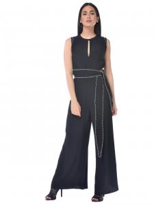 3858b544946 Tuta pantalone donna Pinko con borchie e cintura nero