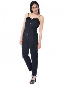 66b1364b27d Tuta pantalone donna Pinko con bottoni e cintura nero