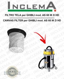 AS 60 IK D HD Filtre Toile pour aspirateur GHIBLI