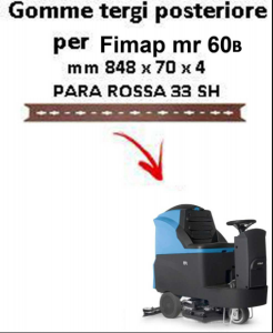 MR 60B  gomas de secado trasera Fimap