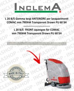 L 20 2014 Gomma tergi ANTERIORE per lavapavimenti COMAC (tergi da 780mm)