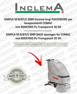 SIMPLA 50 B/BT/E Gomma tergi POSTERIORE per lavapavimenti COMAC