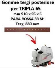 Gomma tergi posteriore per lavapavimenti COMAC - TRIPLA 65