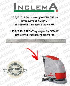 L 20 B/E 2012 Gomma tergi ANTERIORE per lavapavimenti COMAC