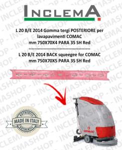 L 20 B/E 2014 Gomma tergi POSTERIORE per lavapavimenti COMAC (tergi da 680mm)