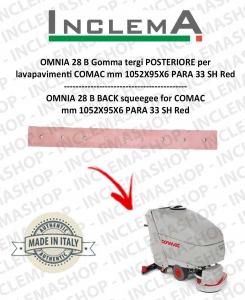 OMNIA 28 B Gomma Tergi POSTERIORE per lavapavimenti COMAC (tergi da 1015mm)