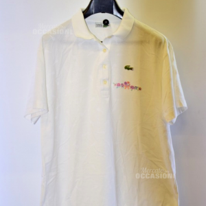 Polo Donna Lacoste Tg 44 Bianca