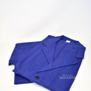 Tuta Da Lavoro Uomo Blu Tg 50 2 Pz (pantalone+giacca) T
