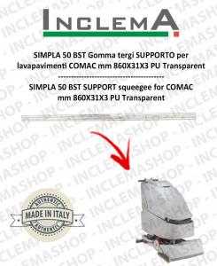 SIMPLA 50 BST Gomma tergi SUPPORTO per lavapavimenti COMAC