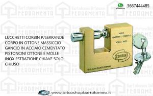 LUCCHETTO CORAZZATO ANTISCASSO CORBIN PL311 70 mm