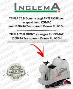 TRIPLA 75 B Gomma tergi ANTERIORE per lavapavimenti COMAC (tergi da 1085 mm)