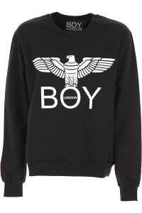 Maglia Felpina Boy London Nero BLD1772 CO G/C M/L+Stampa