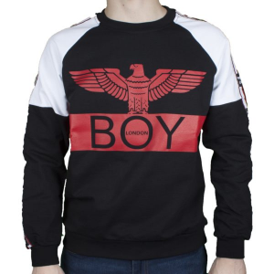 Maglia Felpina Boy London NERO CO G/C BLU6071