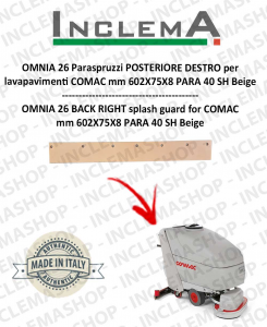 OMNIA 26 Paraspruzzi POSTERIORE DESTRO per lavapavimenti COMAC