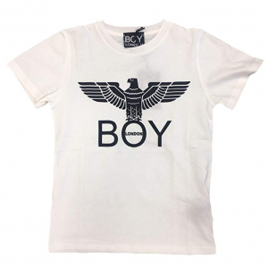 T Shirt Boy London Basic Bianca/Nera Logo BLD1788
