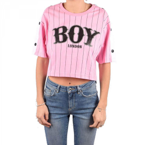 Maglia Jersey Corta Boy London Rosa G/C M/M +Stampa BLD1860