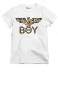 T Shirt Jersey Boy London Bianca/Animalier BLD1895