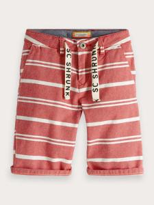 Pantaloncino rosso con righe bianche