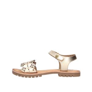 Sandali argento con suola marrone