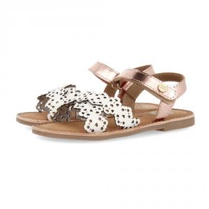 Sandali bianchi con suola marrone