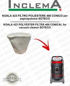 KOALA 423 FILTRO POLIESTERE 400 CONICO per aspirapolvere SOTECO