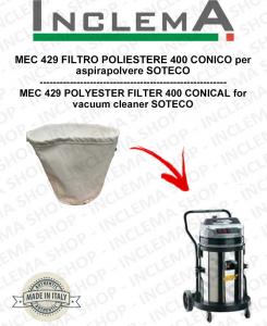 MEC 429 FILTRO POLIESTERE 440 CONICO per aspirapolvere SOTECO