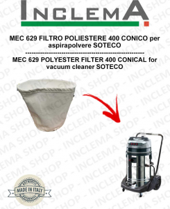 MEC 629 FILTRO POLIESTERE 440 CONICO per aspirapolvere SOTECO