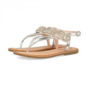 Sandali argento con paillettes