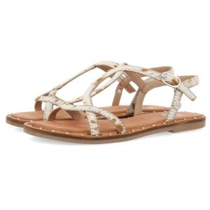 Sandali bianchi maculati