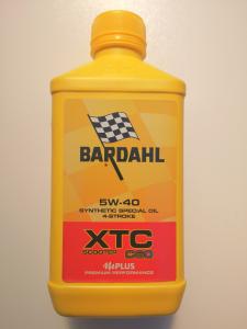 OLIO MOTORE BARDAHL XTC C60 per MOTO e SCOOTER 4 TEMPI 100% SINTETICO SAE 5W40