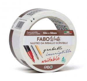 FABO WRITE nastro da imballo scrivibile con penne, matite e pennarelli indelebili