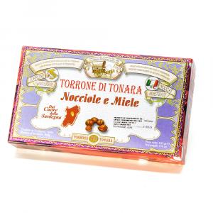 Scatola floreale torrone nocciole e miele 400 g