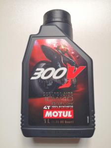 OLIO MOTORE MOTUL 300V ROAD RACING - 100% SINTETICO  SAE 10W40 - MOTOFORNITURE GF
