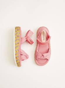 Sandali rosa con velcro