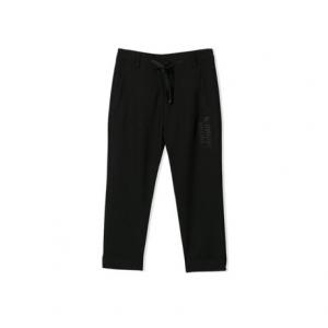Pantalone nero con stampa scritta grigia